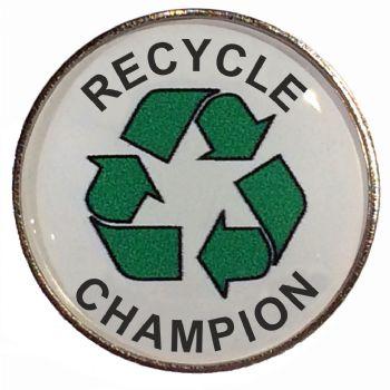 RECYCLE CHAMPION round badge
